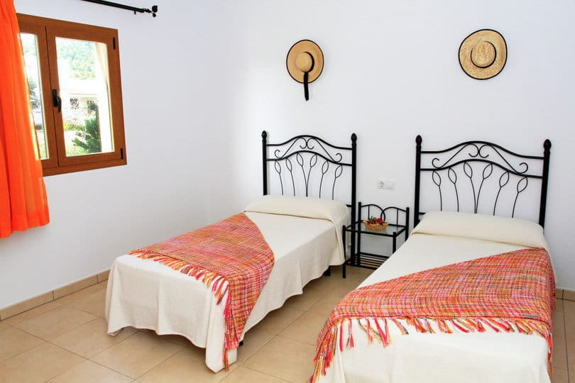 Double room orange at Opales Yoga retreat at Sea view Ecohouse Ibiza