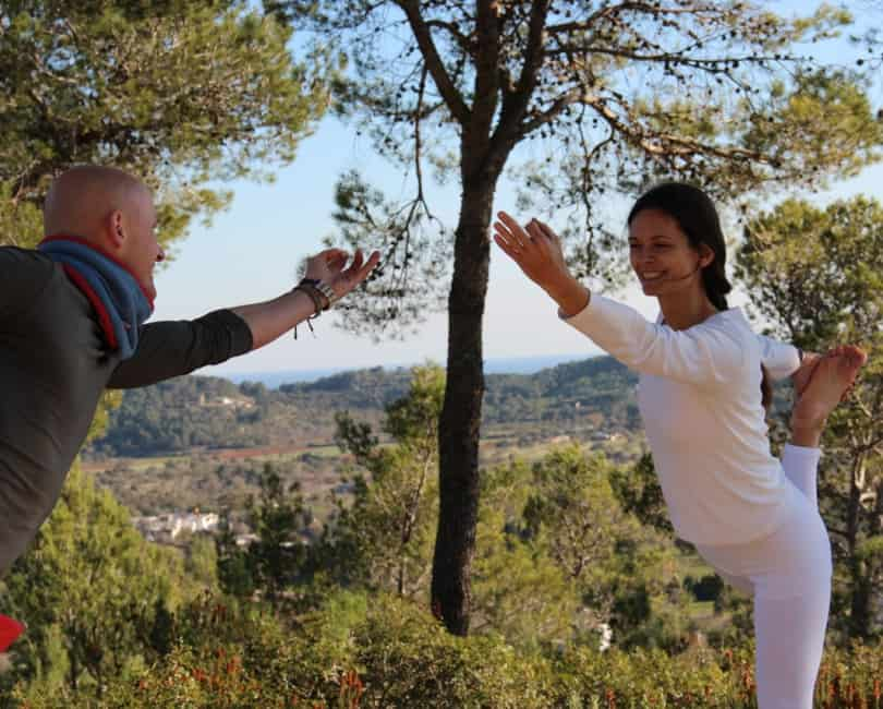 Enjoy in Lord Shiva's dancing pose at Opale's Yoga retreat in Ibiza
