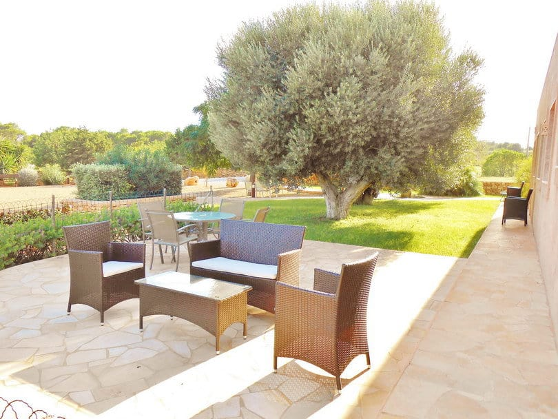 Outdoor terrasse lounge with Sea view at Opale's Yoga retreat Ibiza