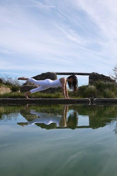 Opale in the leg Pilates exercise Ibiza 1