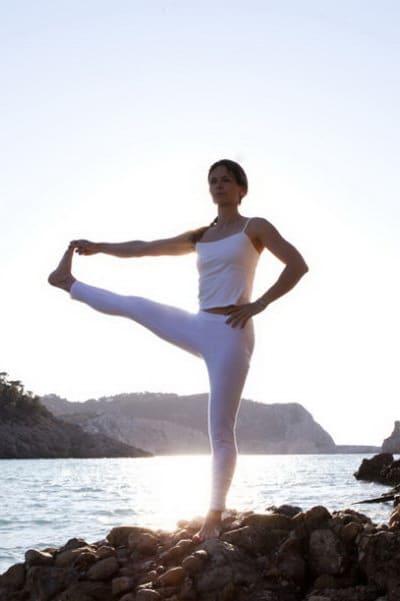 Opale in utthita hasta padangusthasana Ashtanga Yoga Ibiza