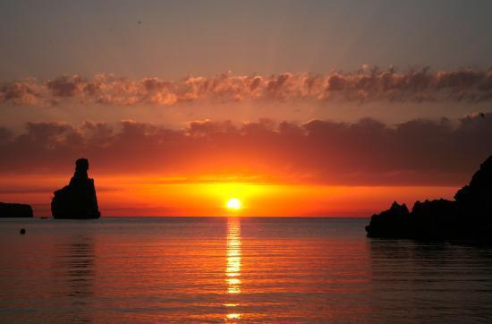 one of the best sunset Beniras beach Ibiza