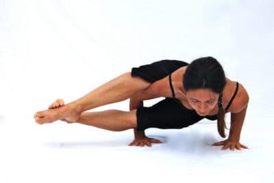 Astavakrasana 8 crooks pose arm balance Opale Yoga Ibiza
