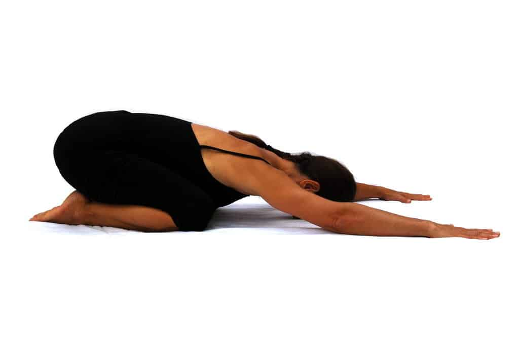 Balasana childs pose Opale Yoga Ibiza