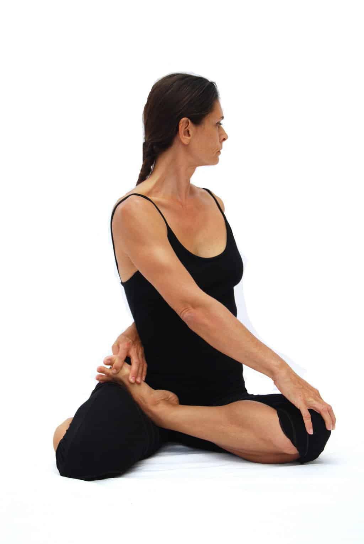 Bharadvajasana II sage Bharadvajas pose 2 Opale Yoga Ibiza