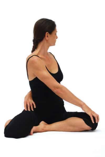 Bharadvajasana II sage Bharadvajas pose 2 variation Opale Yoga Ibiza