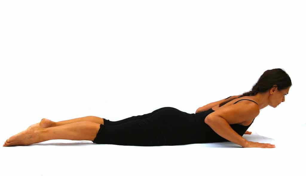Bhujangasana preparation cobra Opale Yoga Ibiza