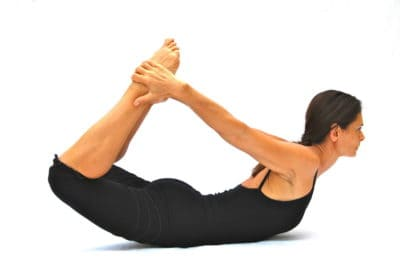 Dhanurasana bow pose Opale Yoga Ibiza