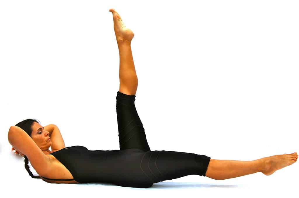 Double legs straight variation Opale Pilates Ibiza