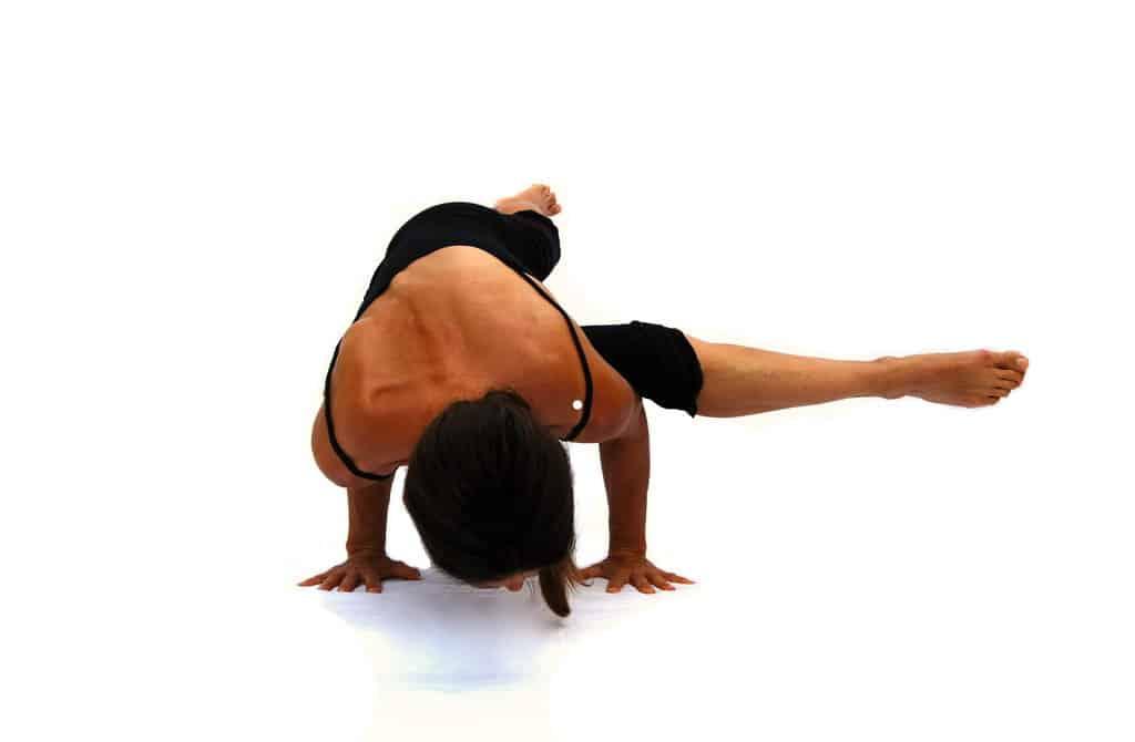 Eka pada kaundinyasana I one leg Kaundinyas pose arm balance Opale Yoga Ibiza