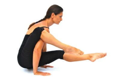 Eka pada sirsasana arm balance version variation Opale Yoga Ibiza