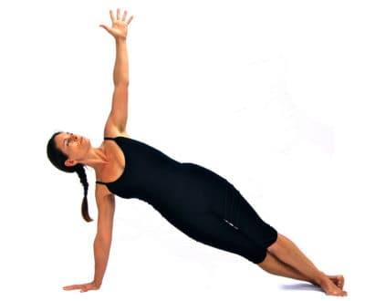 Parsva phalakasana sideways plank pose Variation Opale Yoga Ibiza