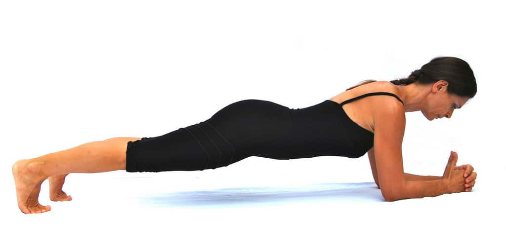 Plank on the elbows Opale Pilates Ibiza
