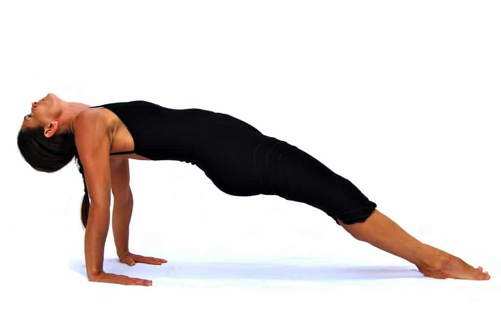 Purvottanasana front body stretched out pose Opale Yoga Ibiza