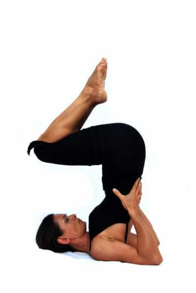 Sarvangasana I shoulderstand preparation Opale Yoga Ibiza