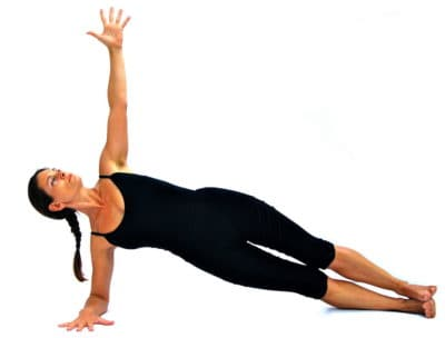 Side plank on the elbow Opale Pilates Ibiza