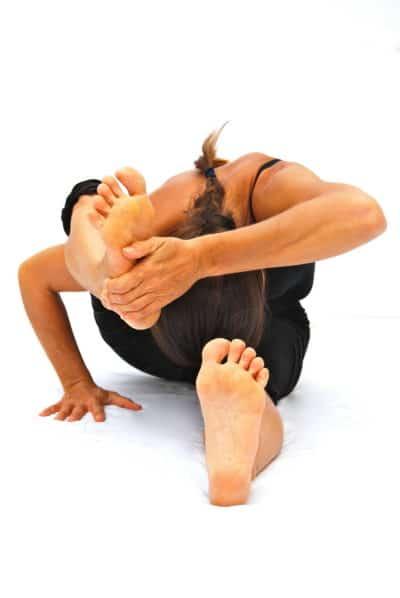 Skandasana Skandas pose variation Opale Yoga Ibiza
