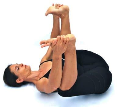 Sukhabalasana happy baby pose Opale Yoga Ibiza