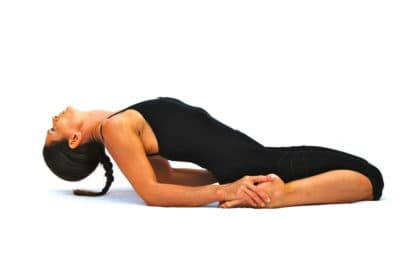 Supta virasana hero pose preparation Opale Yoga Ibiza