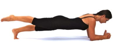 The leg on the elbows Opale Pilates Ibiza