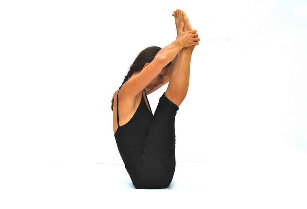 Ubhaya padangusthasana both big toe pose Opale Yoga Ibiza