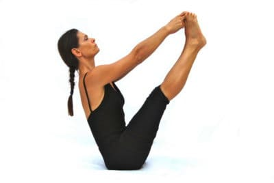 Urdhva mukha pascimottanasana I upward facing back stretched out pose Opale Yoga Ibiza