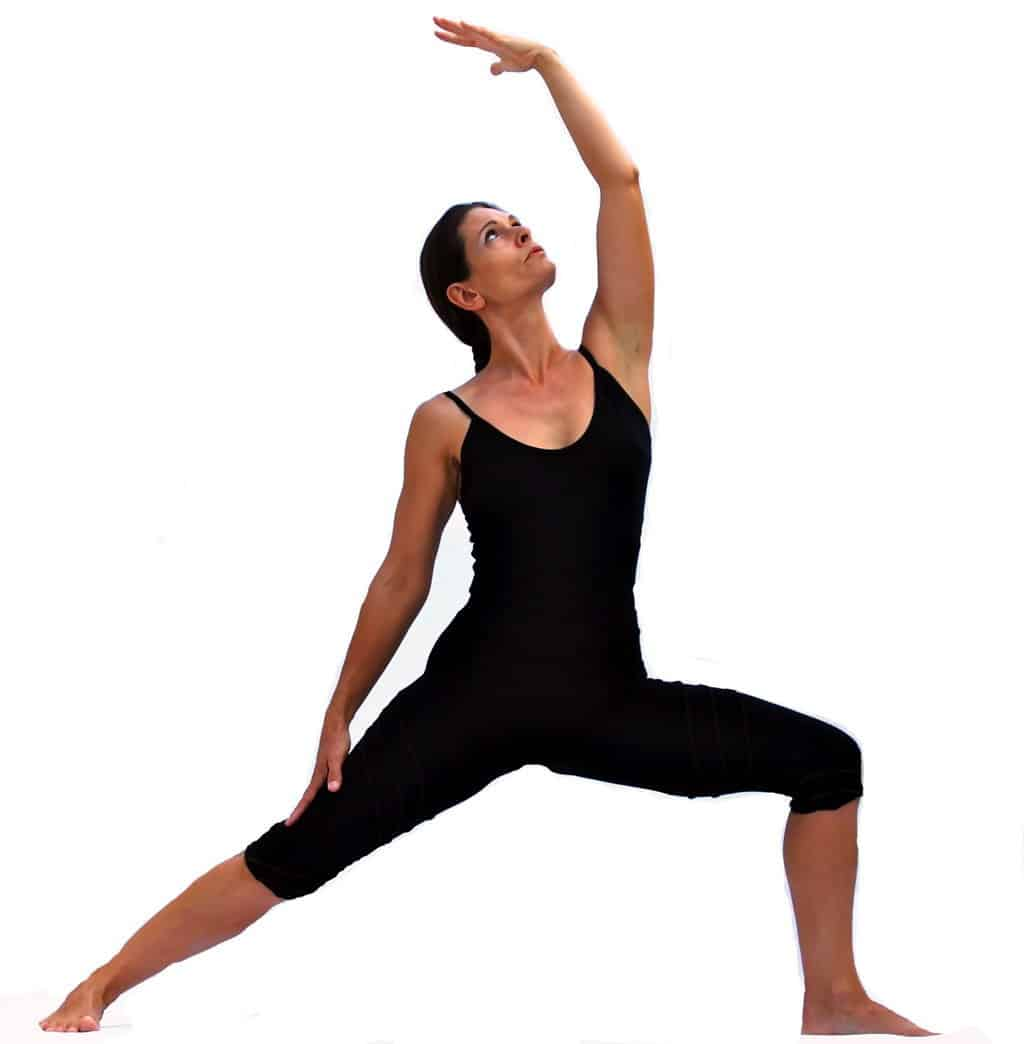 Viparita virabhadrasana II reversed Virabhadras pose or exulted warrior Opale Yoga Ibiza